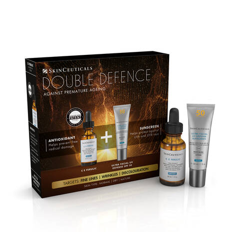 Double Defence C E Ferulic Kit for Dry and Ageing Skin, Worth £186