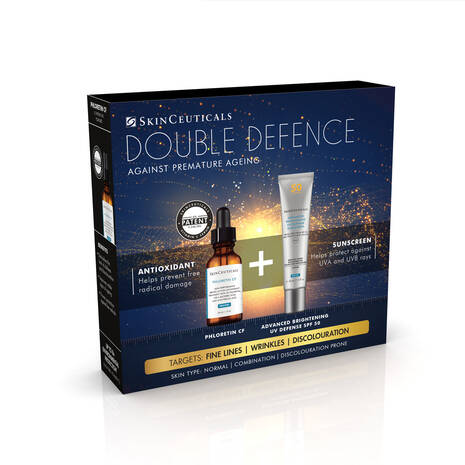 Double Defence Phloretin CF Kit for Combination and Discolouration-Prone Skin, Worth £190