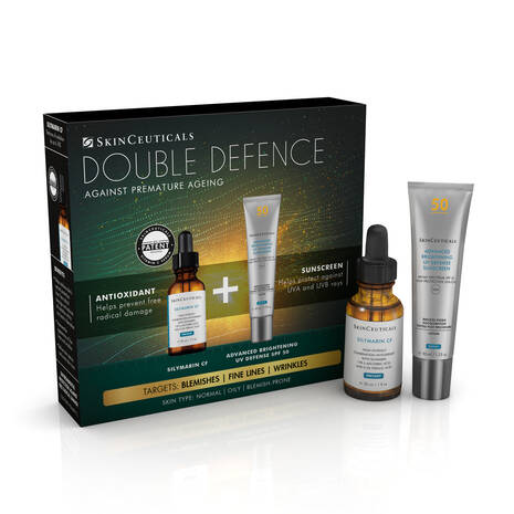 Double Defence Silymarin CF Kit for Oily and Blemish-Prone Skin, Worth £190